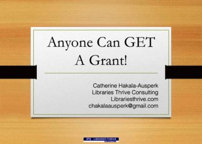 Anyone Can GET a Grant