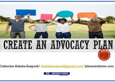 Create An Advocacy Plan