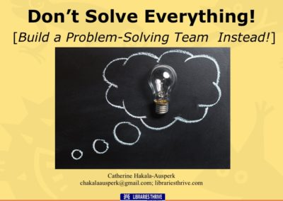 Don't Solve Everything!