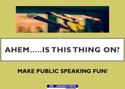 Make Public Speaking Fun