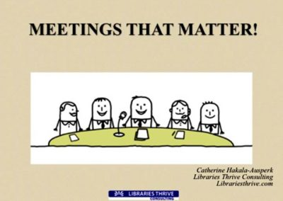 Meetings That Matter